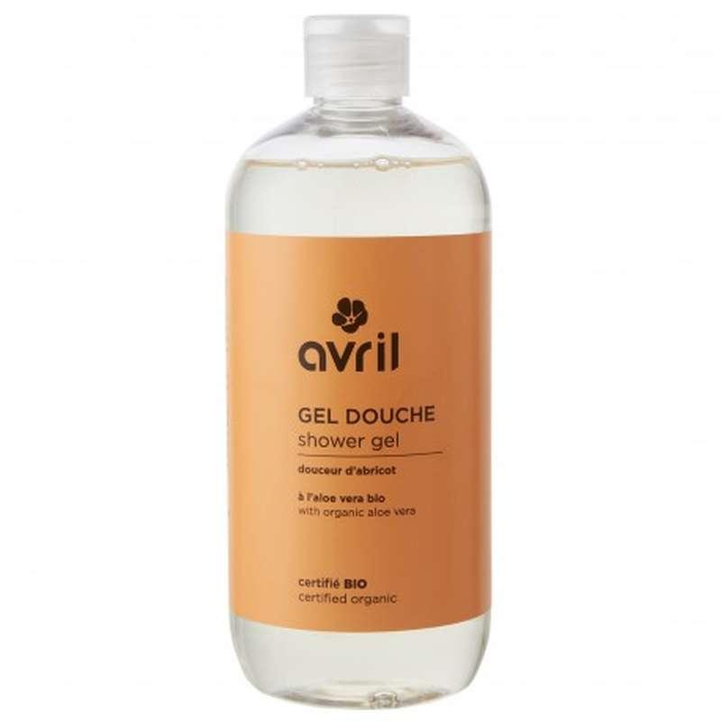 Gel douche douceur d'abricot certifié BIO, Avril (500 ml)