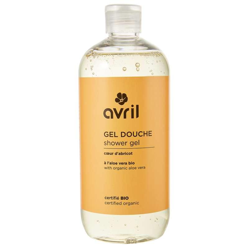 Gel douche coeur d'abricot certifié BIO, Avril (500 ml)
