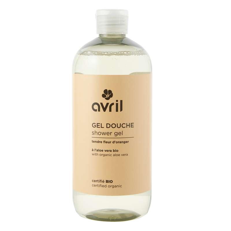 Gel douche tendre fleur d'oranger BIO, Avril (500 ml)
