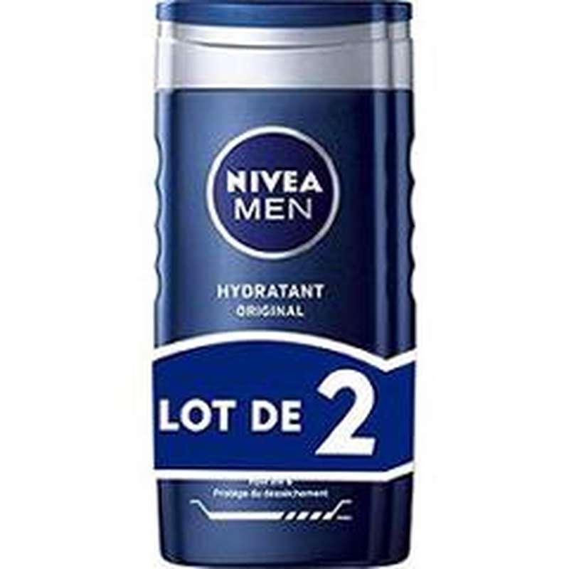Gel douche hydratant origina Protect & Care, Nivea Men LOT DE 2 (2 x 250 ml)