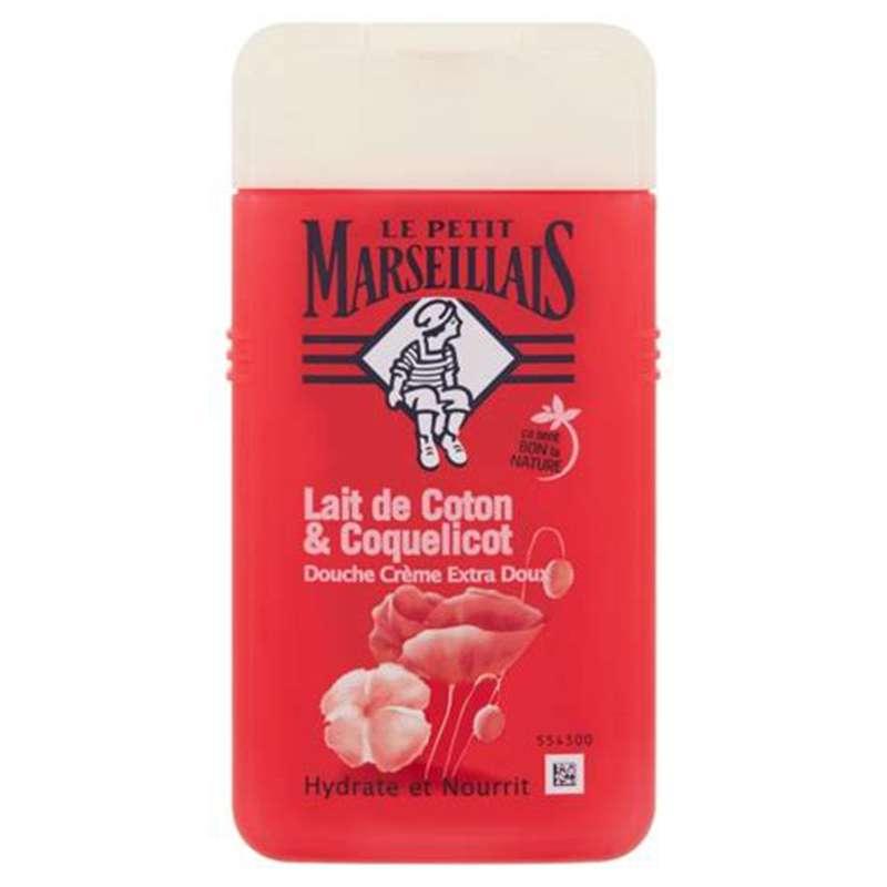 Gel douche parfum lait de coton et coquelicot, Le Petit Marseillais (250 ml)
