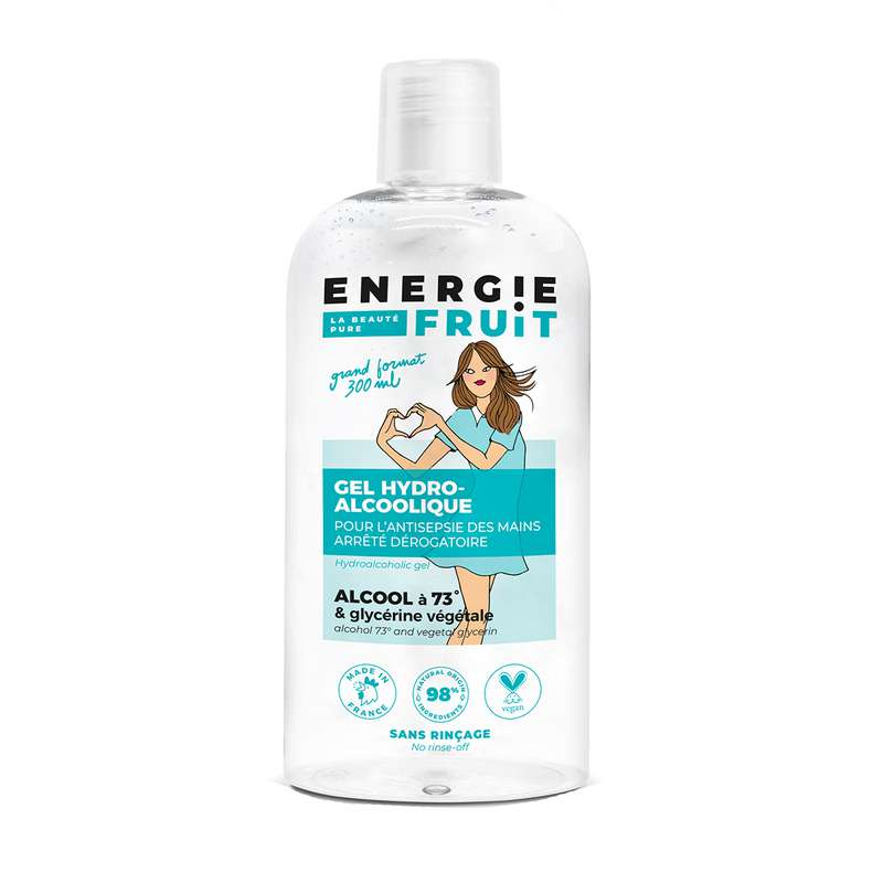 Gel hydoalcoolique sans rinçage, Energie Fruit (300 ml)