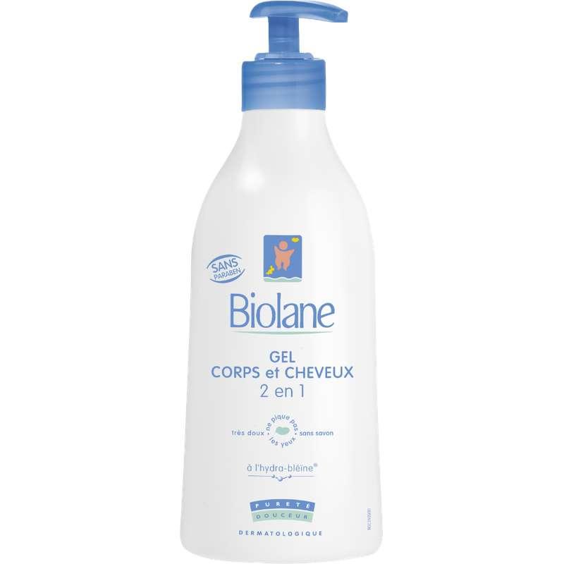 Gel lavant corps et cheveux pour bébés, Biolane (350 ml)