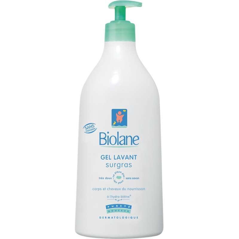 Gel lavant surgras pour bébés corps et cheveux, Biolane (750 ml)