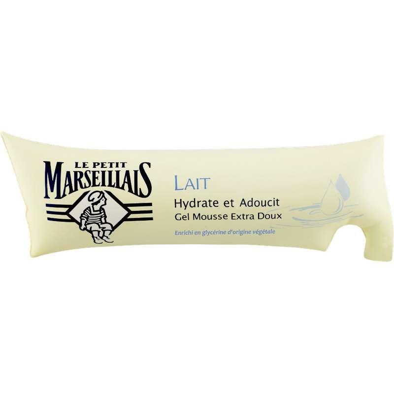 Gel mousse extra doux au lait en berlingot, Le Petit Marseillais (250 ml)