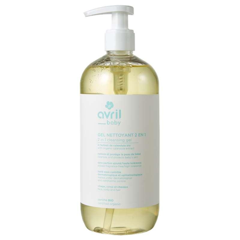 Gel nettoyant bébé 2 en 1 certifié BIO, Avril (500 ml)