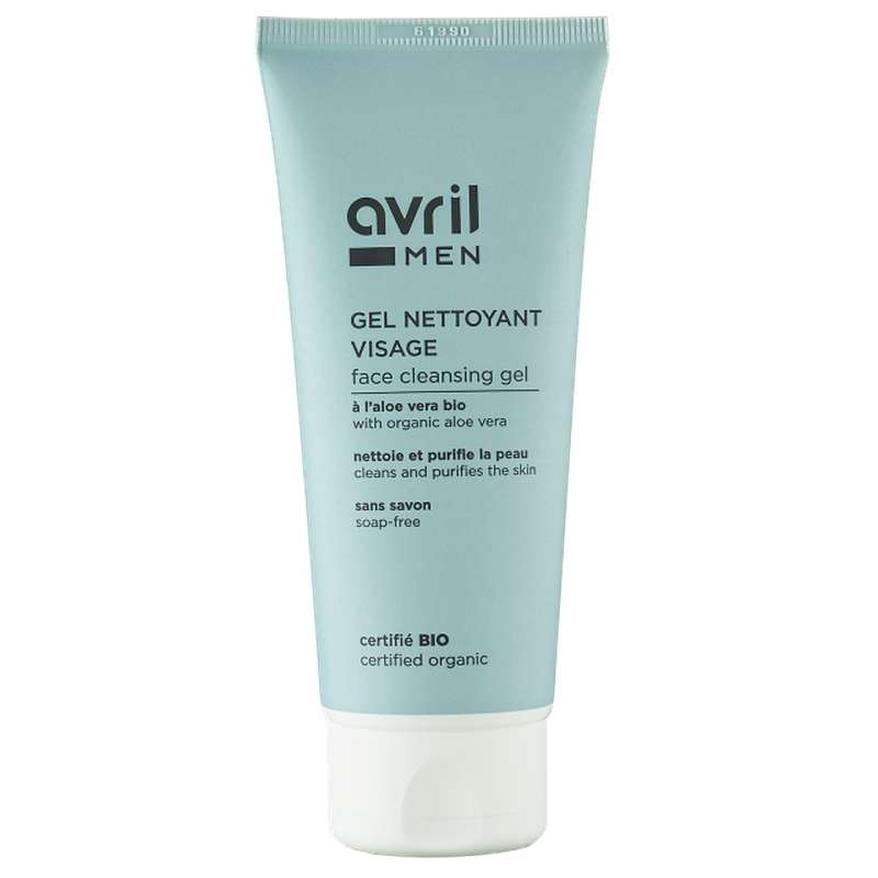 Gel nettoyant visage homme certifié BIO, Avril MEN (100 ml)