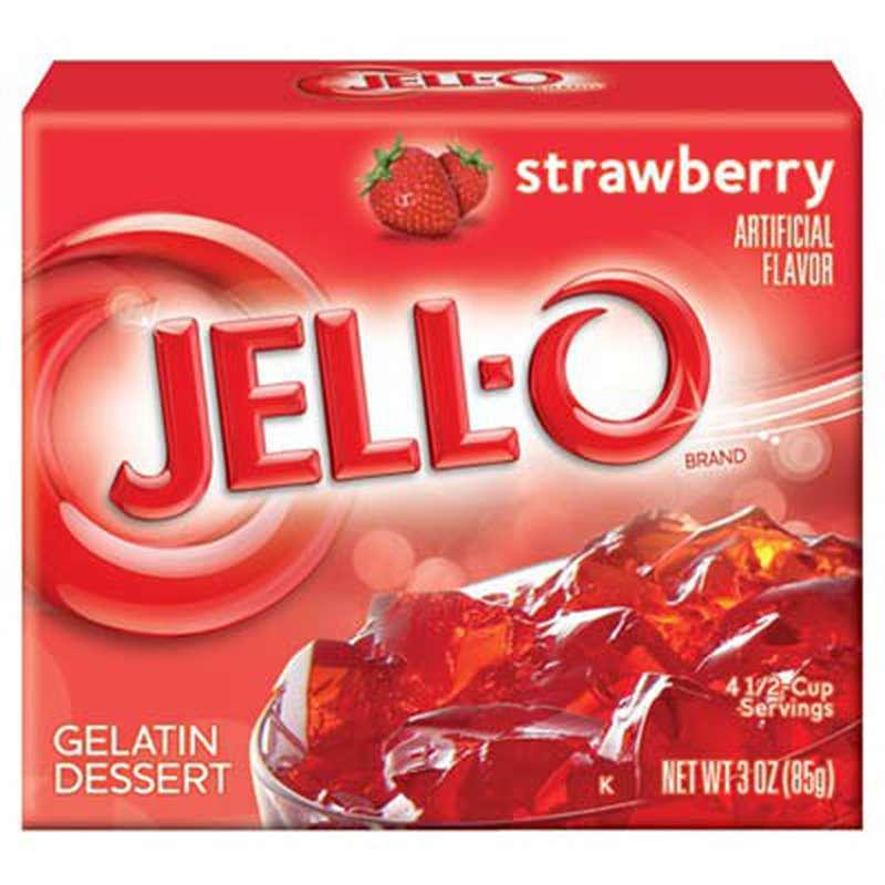 Gelée à la fraise, Jell-o (85 g)