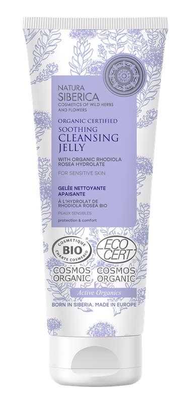 Gelée nettoyante apaisante peaux sensibles à la Rhodiola Rosea BIO, Natura Siberica (140ml)