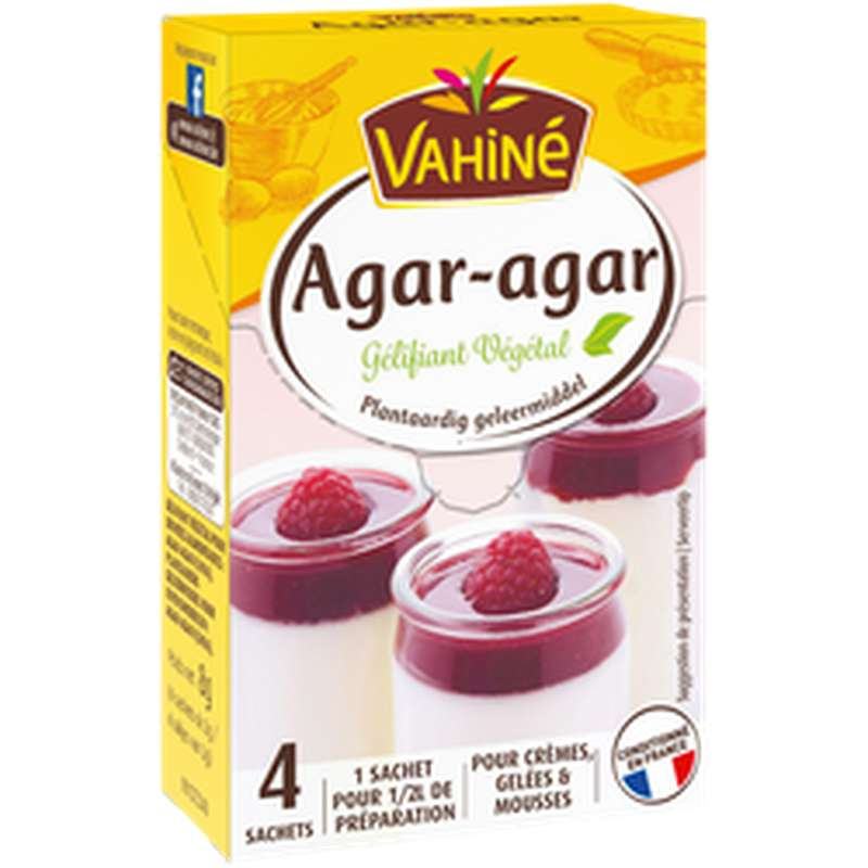 Gélifiant naturel agar agar, Vahiné (8 g)