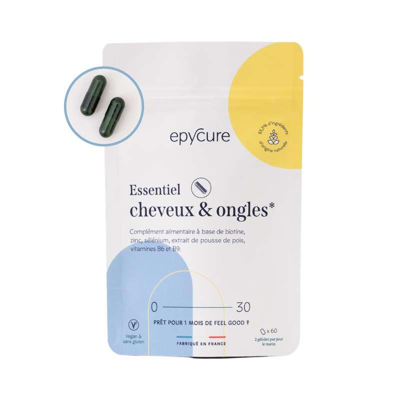 Gélules cheveux et ongles, Epycure (x 60)