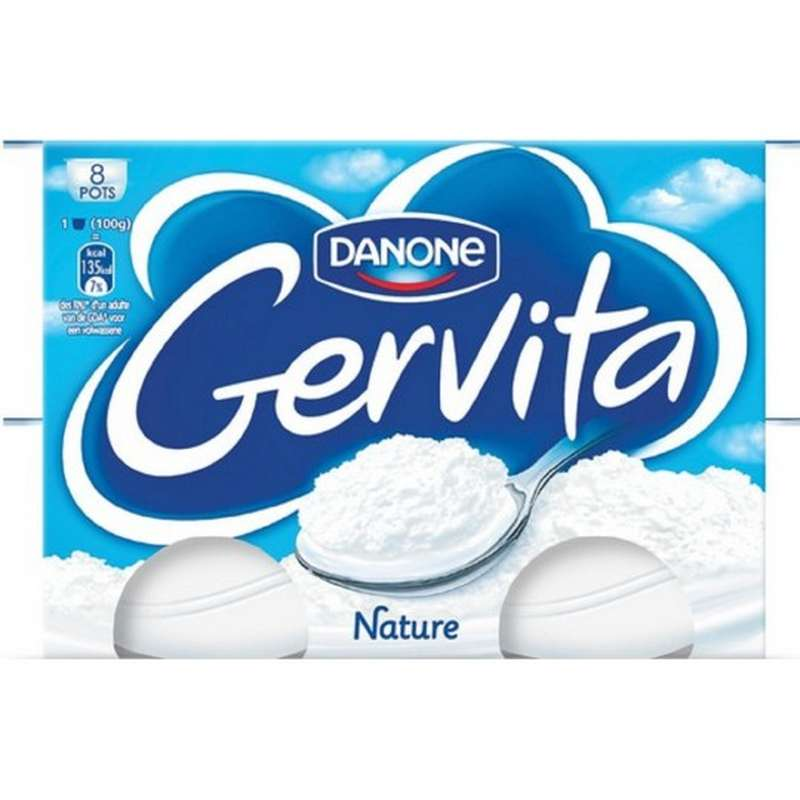 Gervita nature, Danone (8 x 100 g)