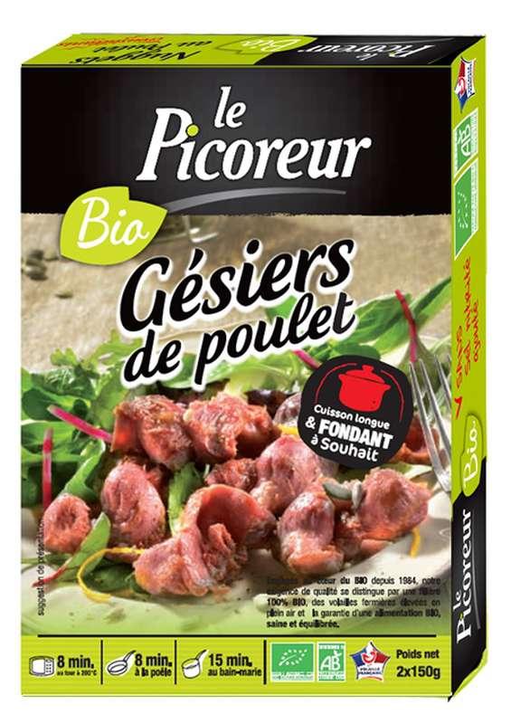 """Gésiers de poulet """"cuisinés en confit"""" BIO, Le Picoreur, (300 g)"""
