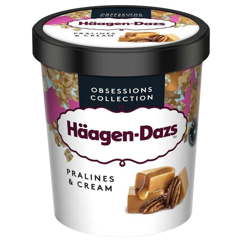Glace vanille caramel noix de pécan sans gluten, Haagen Dazs (400 ml)