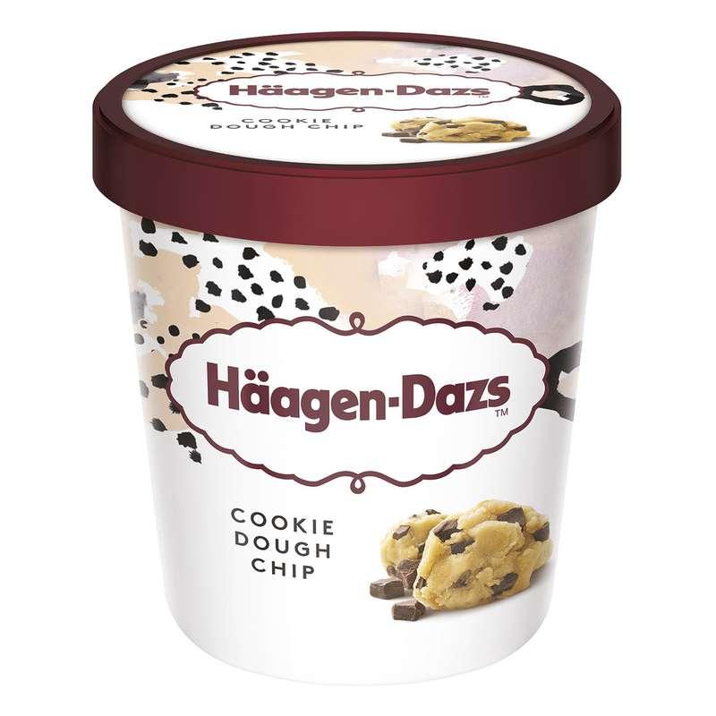Glace vanille cookie dough, Haagen Dazs (394 ml)