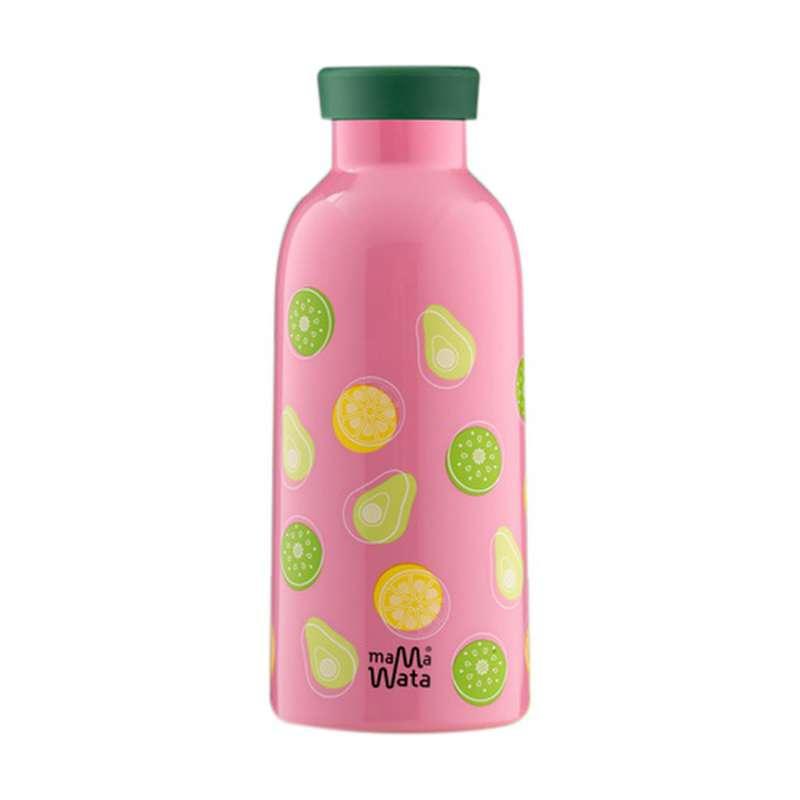 """Gourde réutilisable """"Fruits"""" bouchon infuseur, Mama Wata (470 ml)"""