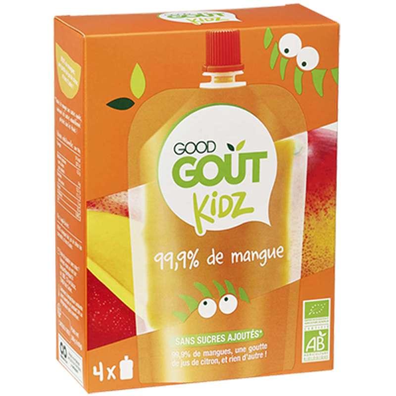 Gourdes Mangue BIO - dès 3 ans, Good Goût Kid'z (4 x 90 g)