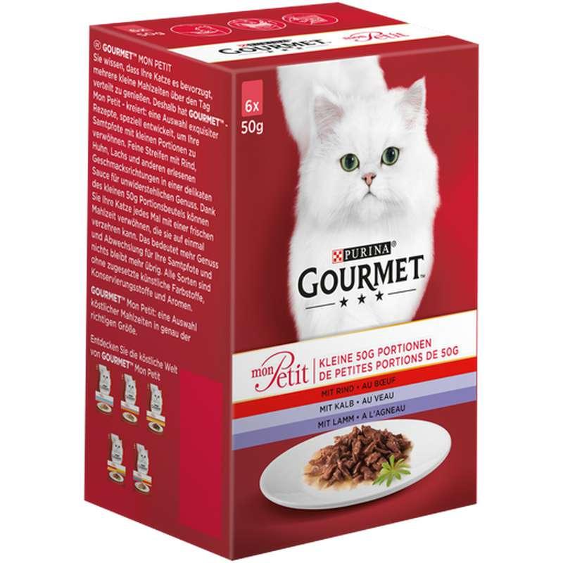 Gourmet mon petit à la viande chat adulte, Purina (6 x 50 g)