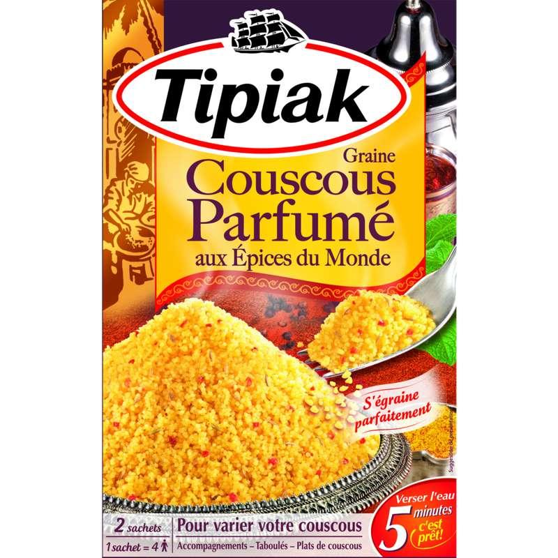 Graine de couscous aux épices du monde, Tipiak (2 x 255 g)