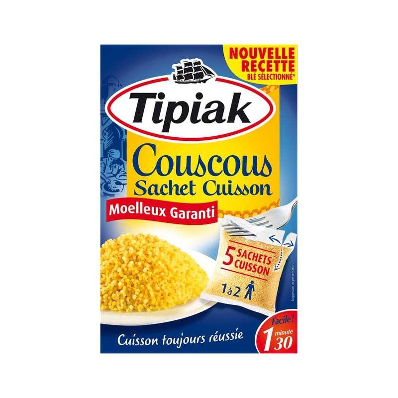 Graine de couscous en sachet cuisson, Tipiak (5 x 100 g)