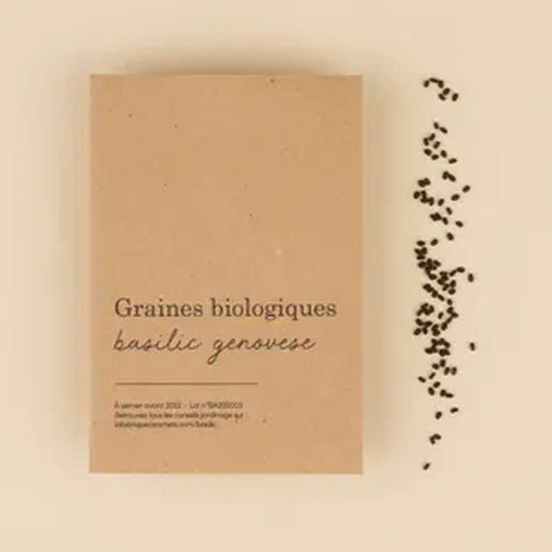 Graines biologiques Basilic Genovese, La Fabrique à Sachets (x 80 graines, 2 g)