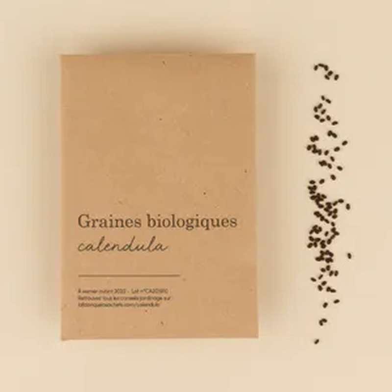 Graines biologiques Calendula, La Fabrique à Sachets (x 30 graines, 2 g)