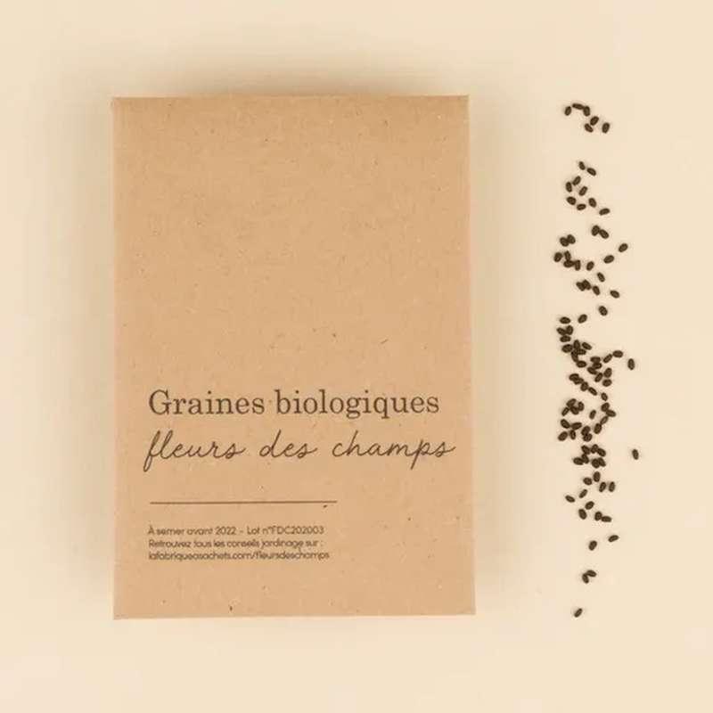 Graines biologiques Fleurs des Champs, La Fabrique à Sachets (x 350 graines, 2 g)
