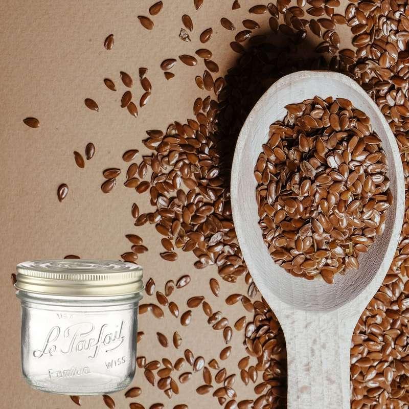 Graines de lin doré BIO bocal consigné / 2,5€ récupérable (540 g)
