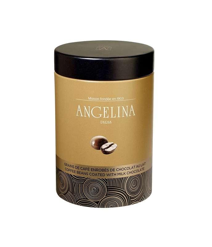Grains de café enrobés de chocolat au lait,  Angelina (130 g)