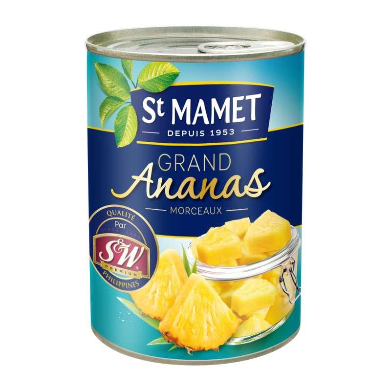Ananas en morceaux au sirop, St Mamet (345 g)