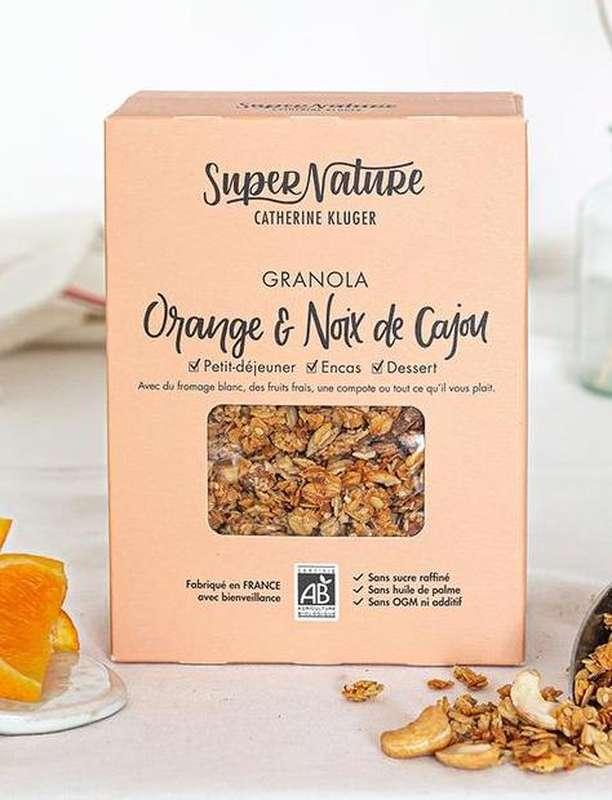 Granola à l'orange et aux noix de cajou BIO, SuperNature (350 g)