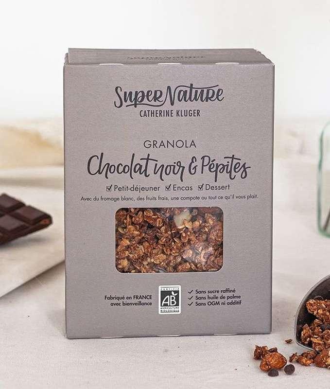 Granola au chocolat noir et pépites BIO, SuperNature (350 g)