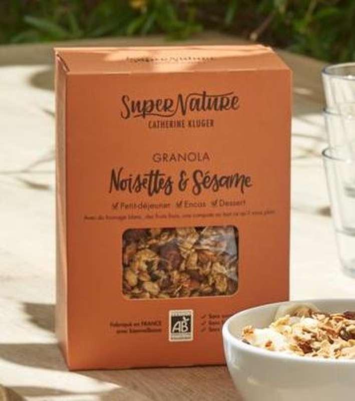 Granola aux noisettes et sésame BIO, SuperNature (350 g)