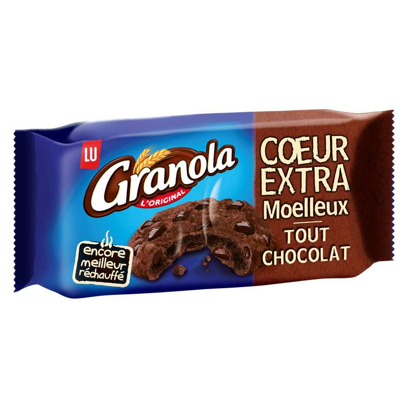 Granola cookies coeur extra moelleux tout chocolat, Lu (182 g)