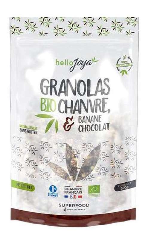 Granola de chanvre, banane et chocolat BIO, Hello Joya (300 g)