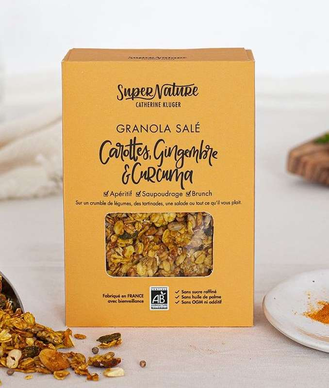 Granola salé aux carottes BIO, SuperNature (160 g)