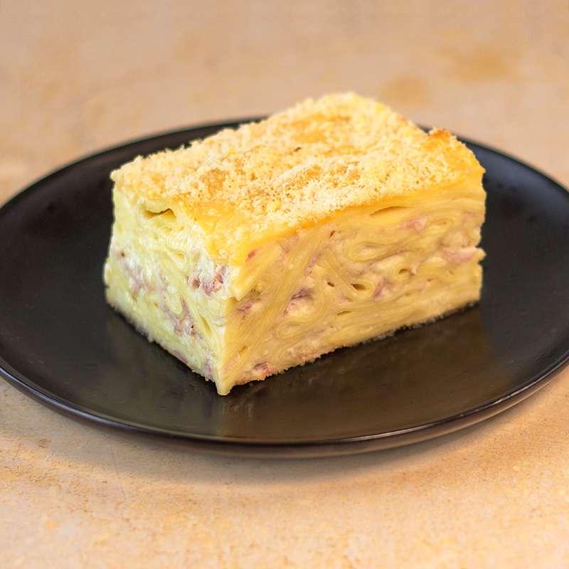 Gratin de pâtes Rigatoni au jambon Prince de Paris et à la mozza (350 g)