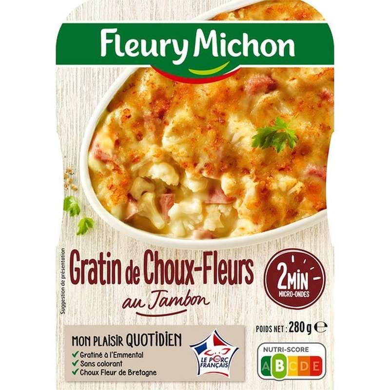 Gratin de choux fleurs au jambon, Fleury Michon (280 g)