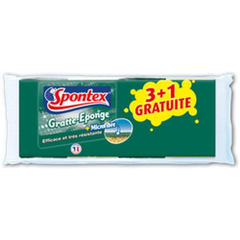Gratte éponge + microfibre efficace et très résistante, Spontex (x 3 +1)