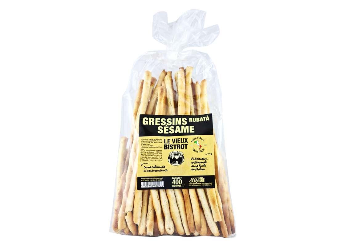 Gressins aux graines de sésame, Le Vieux Bistrot (400 g)