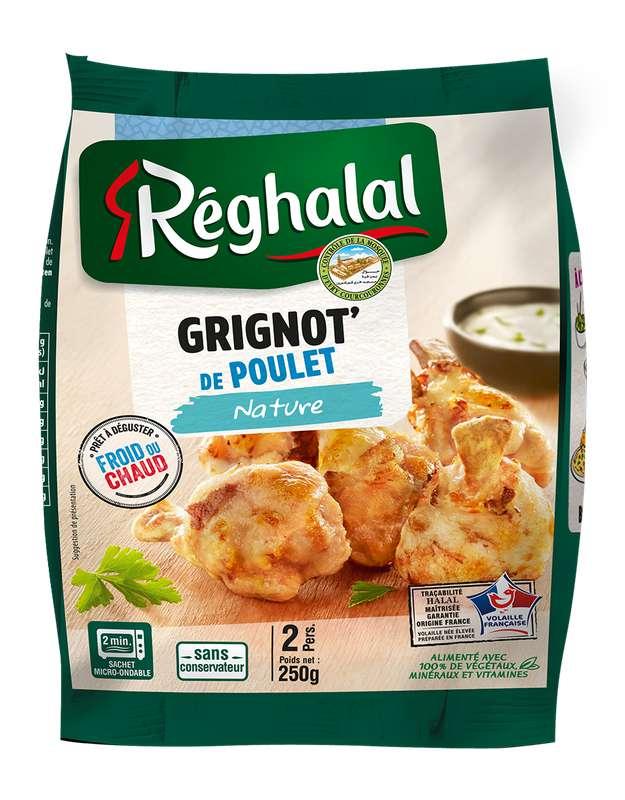 Grignottes de poulet nature Halal, Reghalal (250 g)