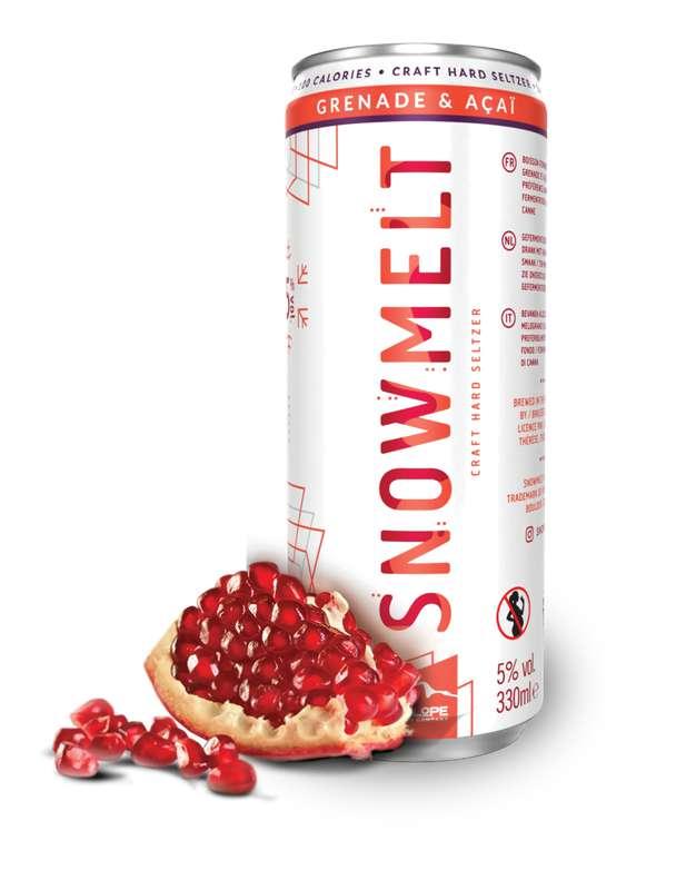 Hard Seltzer grenade et açaï, Snowmelt (33 cl)