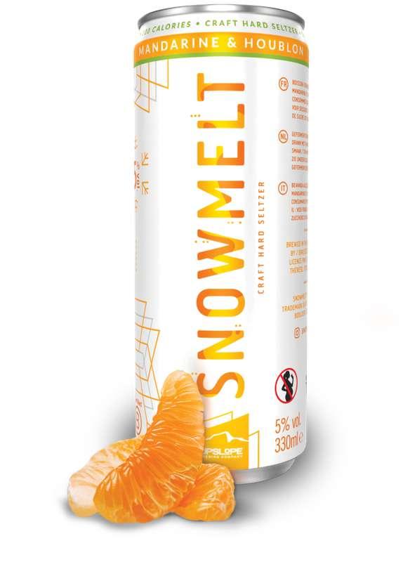 Hard Seltzer mandarine et houblon, Snowmelt (33 cl)