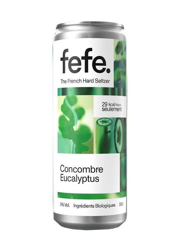 Hard seltzers concombre et eucalyptus, Fefe (33 cl)