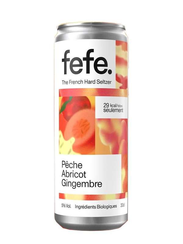 Hard seltzers pêche, abricot et gingembre, Fefe (33 cl)