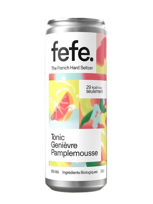 Hard seltzers tonic, genièvre et pamplemousse, Fefe (33 cl)