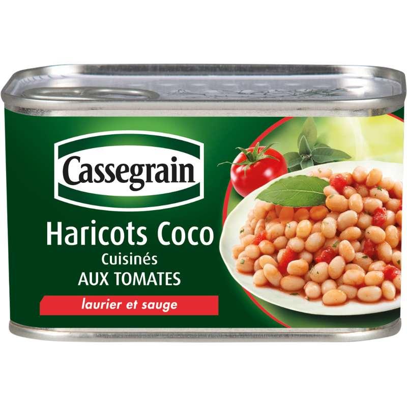 Haricots coco cuisinés aux tomates, Cassegrain (435 g)