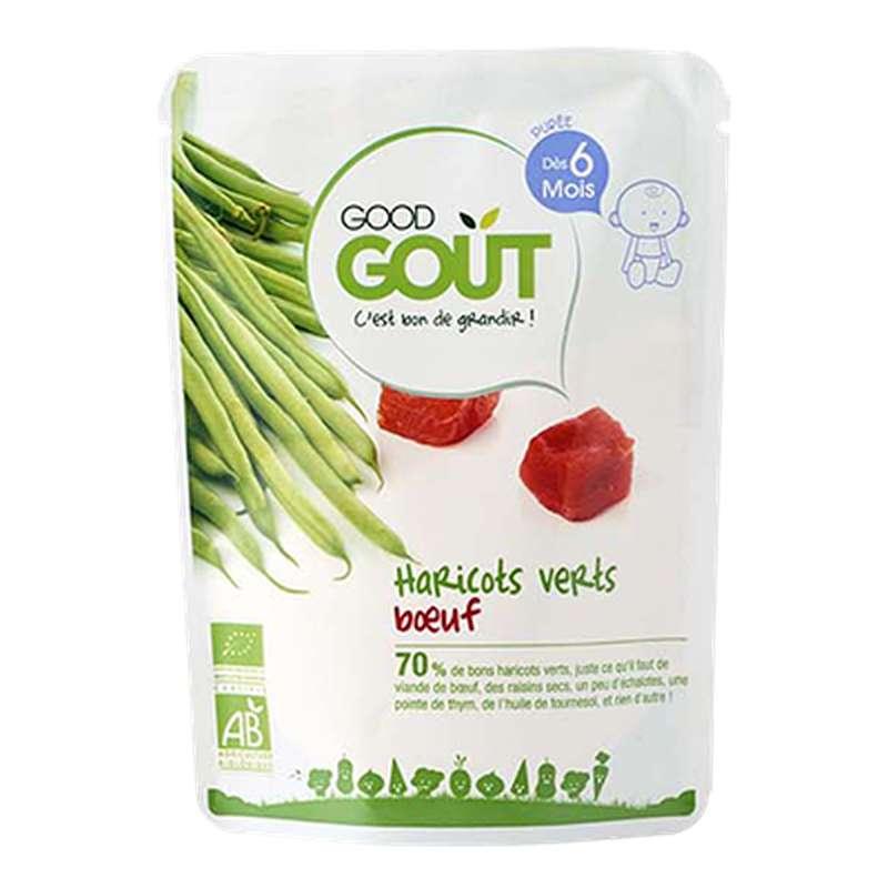 Haricots verts, boeuf BIO - dès 6 mois, Good Goût (190 g)