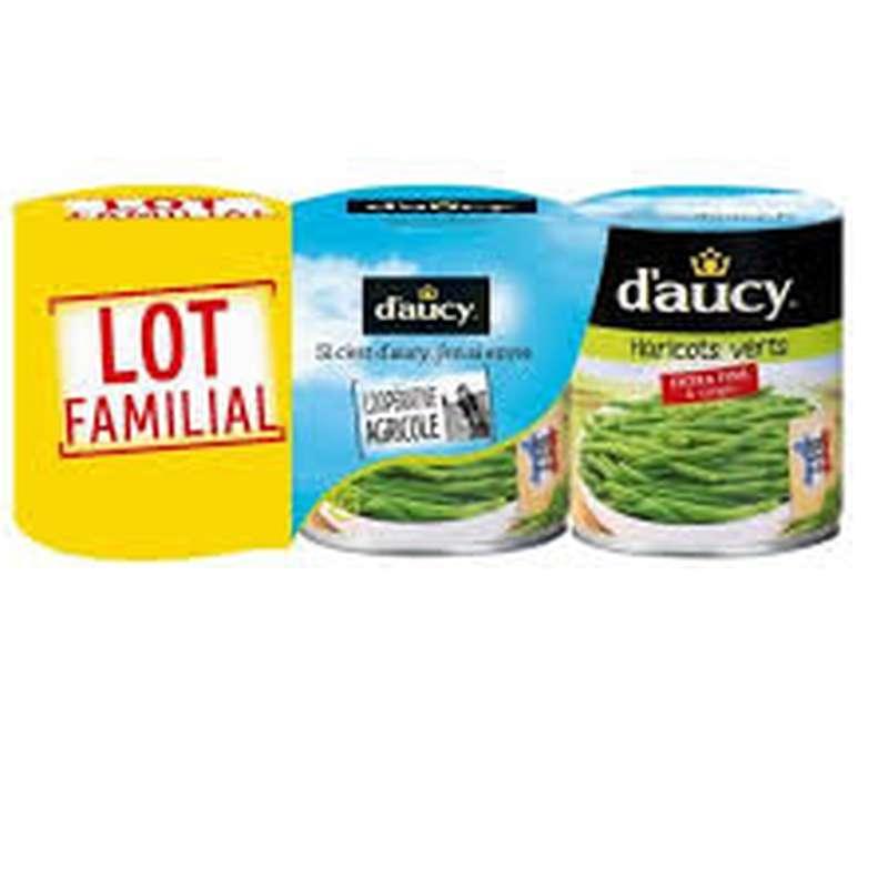 Haricots verts extra-fins, D'aucy LOT DE 3 (3 x 440 g)