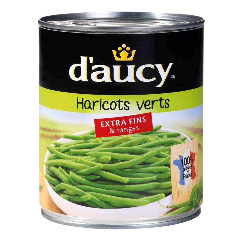 Haricots verts extra-fins, D'aucy (440 g)
